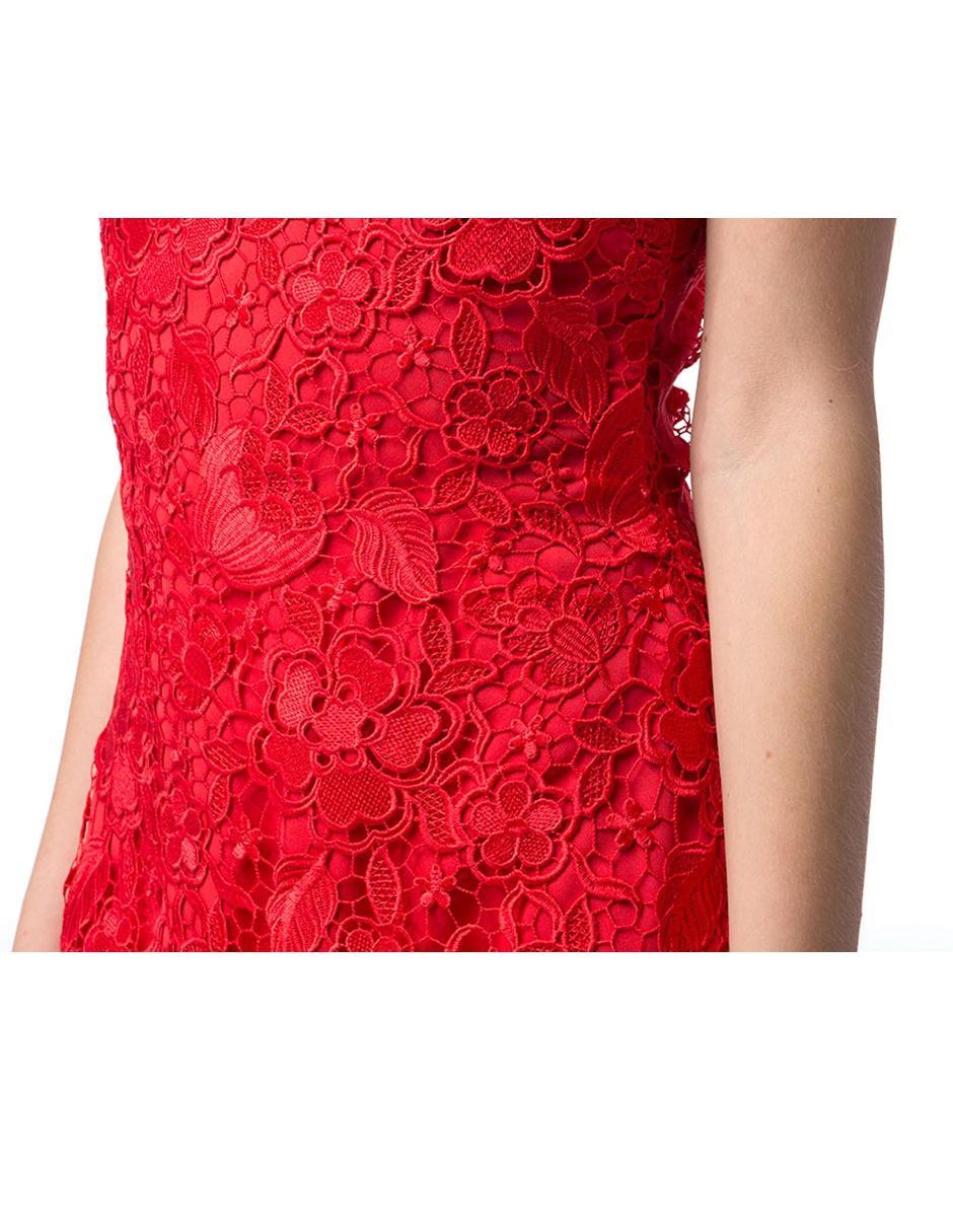 Vestido Bordado Ivonne Couture Rojo