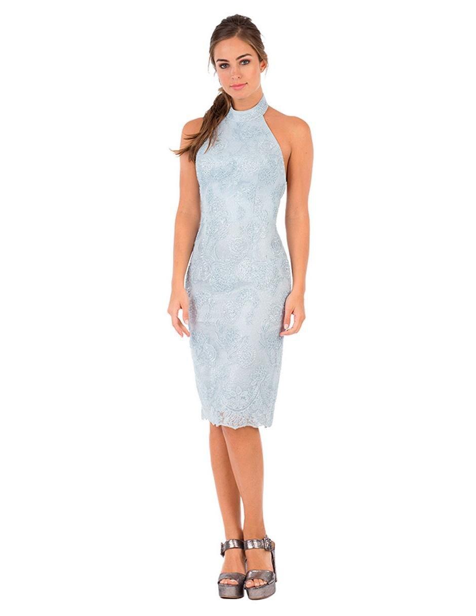 Vestido Texturizado Ivonne Couture Azul