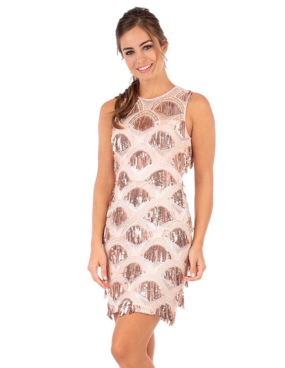 Vestido texturizado Ivonne Couture rosa 1e230a995a8