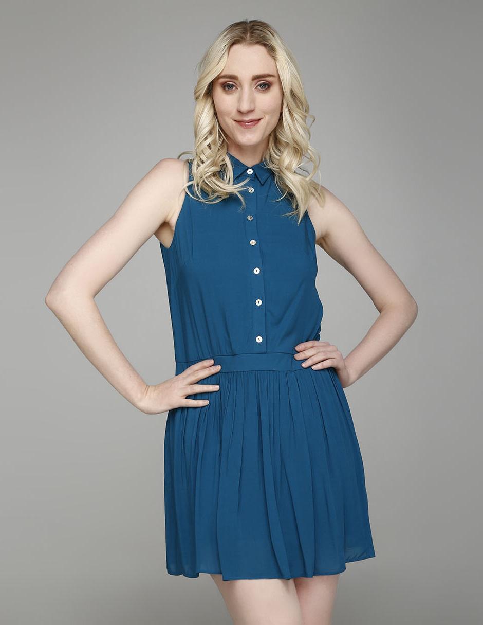 Vestido Rue De La Paix Azul Pizarra Casual
