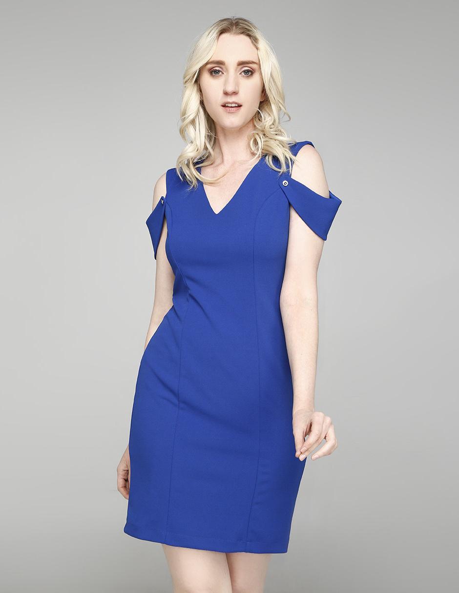 Vestido Rue De La Paix Azul Rey Casual